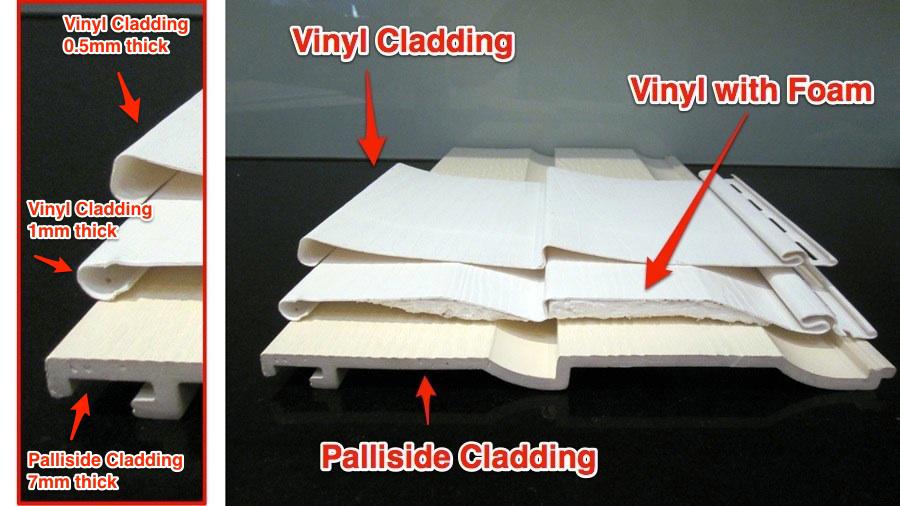 compare cladding